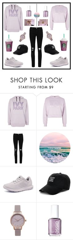 """#LisaAndLena#Purple#IVYPark#starbucks#adidas#essie#autumn#fall"" by whitney555 ❤ liked on Polyvore featuring Ivy Park, Boohoo, adidas, Body Rags, Olivia Burton and Essie"