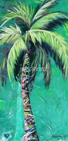 palm tree paintings coastal decor pinterest palm tree