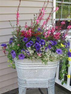 best front door flower pots will add good first impression your house 5 ⋆ Home & Garden Design Container Flowers, Flower Planters, Container Plants, Garden Planters, Container Gardening, Deck Flower Pots, Porch Planter, Urban Gardening, Garden Yard Ideas
