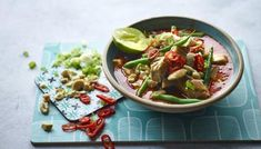 Chicken and aubergine massaman curry recipe - BBC Food Thai Massaman Curry, Thai Chicken Curry, Cooking Recipes, Healthy Recipes, Healthy Meals, Healthy Suppers, Chef Recipes, Healthy Chicken, Meat Recipes