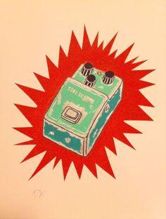 Tube Screamer - Original Pop Art - Guitar Ibanez Effects Painting in Art, Direct from the Artist, Paintings | eBay