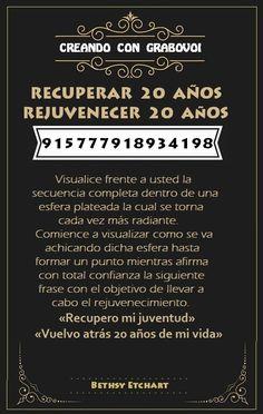 CODIGO GRABOVOI - REJUVENECER 20 AÑOS - 915777918934198