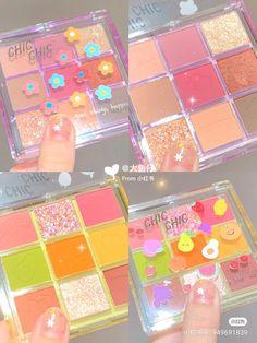 Makeup Kit, Skin Makeup, Eyeshadow Makeup, Makeup Cosmetics, Cool Makeup Looks, Cute Makeup, Kawaii Makeup, Peach Aesthetic, Korean Makeup