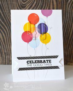 Lostinpaper - Balloon layered die cut 40th birthday card (video)