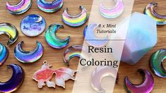 Mini Resin Tutorials: Resin Coloring (Color Shifting, Pearlescent, Colored UV Resin & Clear Film) - YouTube