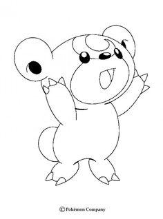 teddiursa pokemon coloring page more pokemon coloring sheets on hellokidscom - Pokemon Pictures To Print Out