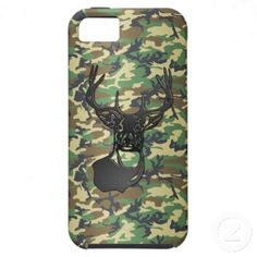 This amazing 3D look was created using a brand new design process that I developed myself. You won't find this case anywhere else (online or offline). #PhoneCases #iphone #hunting #deer #Zazzle #3D #camo #camouflage