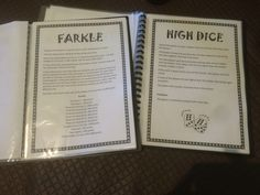 A couple of the games in the 'dice games' book that went with the wooden yard dice sets