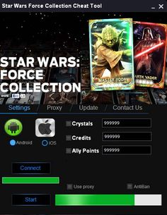 Star wars force collection hack tool cheats no survey for free download. Get unlimited credits, points, crystalls with Star wars hack for android & ios.