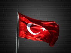 Hareketli Masaüstü Arka Plan Türk Bayrağı