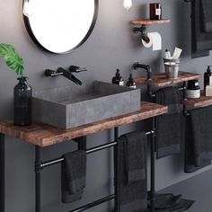 Loft Bathroom Set Loft Style Apartment on Behance Loft Bathroom, Upstairs Bathrooms, Bathroom Sets, Modern Bathroom, Small Bathroom, Industrial Bathroom Design, Bathroom Design Luxury, Industrial House, Home Interior Design
