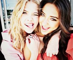 Hannah and Emily from pretty little liars.