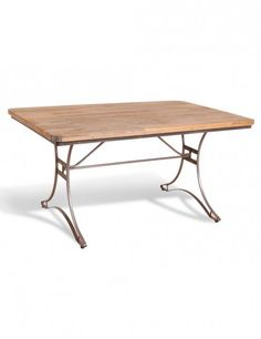Rectangular Industrial Table in Steel and Mango