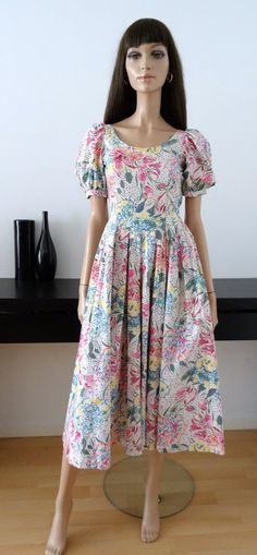 laura ashley vintage english dahlia garden dress jacket outfit suit uk 10 12. Black Bedroom Furniture Sets. Home Design Ideas