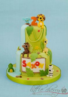 My son Saxon's 2nd birthday cake - Raa Raa the noisy lion. By the amazing Tracey at Little Cherry Cake Company