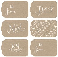 Cherry Blossom Blog: last minute - printable holiday gift tags