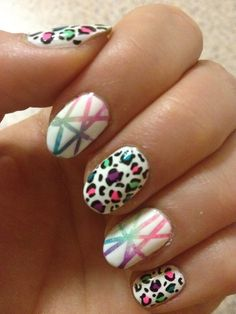 nail-art-101:    I'm just gonna do neon manis and pretend it's summer, ok?Leopard Print Tutorial