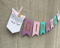 Unicorn Name Banner, Unicorn Baby Name Banner, Large Name Banner, Unicorn Party Decorations, Unicorn Baby Shower.