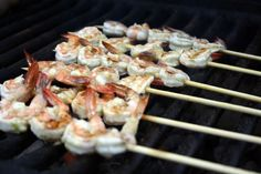 Try out this great Grilled Lime Garlic Shrimp recipe from O, The Oprah Magazine. The citrus marinade mixed with a campfire makes this shrimp recipe a must-have on camping trips!