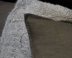 A subtle and gradual tie-dye, in earthy, mossy tones with stitching detail on one corner. Size:60cm x 60cm 100% raw, hand dyed, unrefined linen with a feather fill. Sleep Rituals, Natural Sleep, Good Night Sleep, New Product, Earthy, Fill, Stitching, Feather, Tie Dye