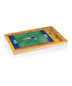 Take a look at this New England Patriots Icon Cheese Cutting Board Set by Picnic Time on #zulily today!