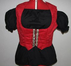 Medieval Renaissance Pirate Wench Gypsy Red by ThisandThatPark, $40.00