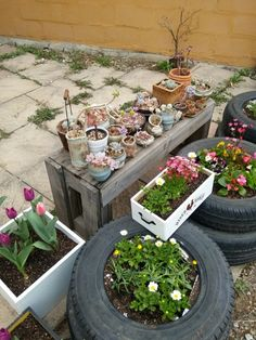 정원꾸미기,정원,마당꾸미기,꽃심기,폐타이어,재활용,리사이클링 업사이클링,다육이