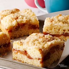 Serve this apple pie coffee cake the next time you host brunch with the girls. This pastry makes a great addition to any weekday breakfast or Sunday brunch. It's easy. It's delicious. And the prep time is less than 30 minutes.
