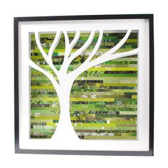 Green Tree Shadowbox Large now featured on Fab.