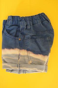gebleekte short van te kleine/te korte jeans