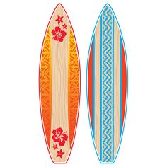 Surf's up with this fun bulletin board display. The two giant surfboards are each made up of three pieces and when put together each board is over 4 feet tall! Use it as a way to display student of th