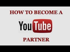 How To Become A YouTube To Monetize Your Videos http://www.youtube.com/watch?v=FrjlnygHhPQ