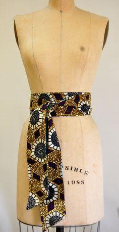 Reversible African Wax Print Belt