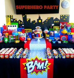 Dream 2 Reality Events's Birthday / SuperHero Pop Art Comic - Superhero Comic Party at Catch My Party Avengers Birthday, Batman Birthday, Superhero Birthday Party, Boy Birthday, Birthday Ideas, Spider Man Party, Avenger Party, Superhero Pop Art, Superhero Baby Shower