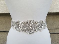 Wedding Belt, Bridal Belt, Sash Belt, Crystal Rhinestone & Off White Pearls with Silver, Gold or Rose Gold Accents - Style B80025 Absolutely Dazzling Finest Crystal Rhinestone belt will take your breath away! ** Total Length X Width of rhinestone & Off White Pearl part = about 17 inches X 2 3/4 Rhinestone Belt, Crystal Rhinestone, Sparkly Belts, Or Rose, Rose Gold, Bridal Sash Belt, Wedding Belts, Sash Belts, Star Wedding