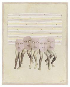 "Saatchi Art Artist Athena Petra Tasiopoulos; Collage, ""Tribe"" #art"