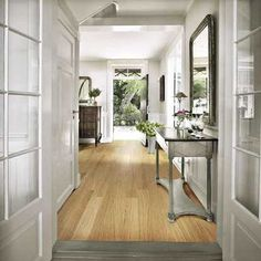 Whether a grand entranceway or a modest mud room, any area of the home that leads to the outside world needs smart but practical flooring. Cost Of Wood Flooring, Hall Flooring, Kahrs Flooring, Country House Interior, Country Homes, Wood Parquet, Engineered Wood Floors, English House, House And Home Magazine
