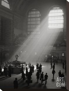 Sunbeams Streaming into Grand Central Station, NYC Stretched Canvas Print by Philip Gendreau at Art.com