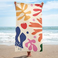 Give your bathroom a vibrant look and wrap yourself up with this super soft and cozy all-over sublimation towel. Designer Beach Towels, Tropical Girl, Collage Illustration, Beach Shoot, Tie Dye Designs, Textiles, Surf Style, Beach Wear, Matisse