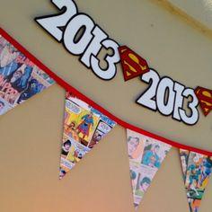 Superhero-themed Graduation Party... Love it