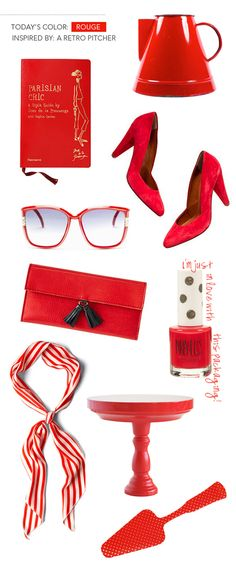 Red accessories for dramatic pops of color. Which is your favorite?