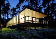 Home for epileptics with a poor mobility. located in a pinewood forest.  Ottignies, Belgium  Lennox Residence / Artau Architecture