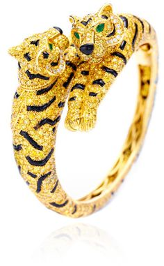 OMG!!! Extremely expensive bracelet.  FD Gallery One-Of-A-Kind Cartier Diamond Tiger Bracelet  $730,000