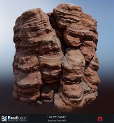 ArtStation - Substance: Red Rock Cliff, Bradford Smith
