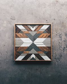 """Daphne Berger - Wall Art - 24""""x24"""" Made from reclaimed house wood from Nashville, TN"""