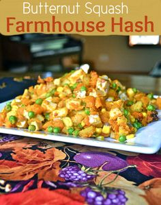 F is for Farmhouse Hash! Butternut Squash Farmhouse Hash from Make the Best of Everything