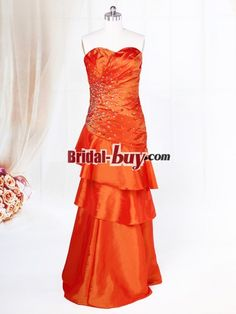 Buy Custom Made High Quality Elegant Affordable Sheath Sweetheart Ruched Rhinestones Long Taffeta Prom Dress PD-7612 at wholesale cheap prices from Bridal-Buy.com