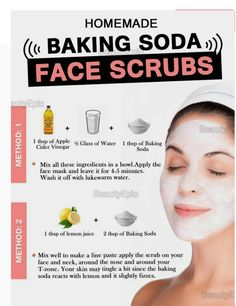 Homemade Baking Soda Facial Scrub Recipes for Gorgeous Face & Skin Want to get a clear face? Well, Baking soda shows wonders as a face scrub helping you smiling with confidence. Here are some best baking soda face scrub Baking Soda Facial, Baking Soda Face Scrub, Baking Soda Uses, Beauty Tips For Face, Natural Beauty Tips, Natural Skin Care, Face Tips, Natural Facial, Natural Oils
