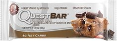 nice Quest Nutrition Protein Bar, Chocolate Chip Cookie Dough, 21g Protein, 2.1oz Bar, 12 Count