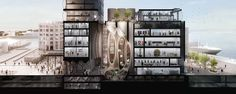 Proposed museum in the V&A Waterfront's Silo buildings, by Thomas Heatherwick. Exciting!